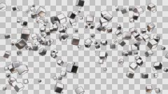 Broadcast Flying Hi-Tech Cubes 10 - stock footage