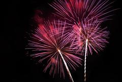 Colourful fireworks display at nigth Stock Photos