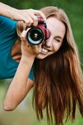 portrait young charming photographs - stock photo