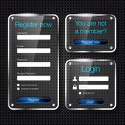 Stock Illustration of Login and register glass web forms