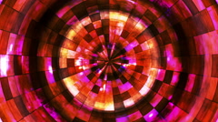 Stock Video Footage of Twinkling Hi-Tech Grunge Flame Tunnel 06