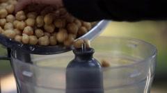 Vegan food chickpea in blender Stock Footage