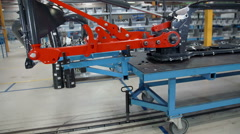 Machine in the factory Stock Footage