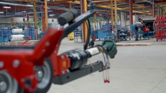 Many different machines in the factory Stock Footage
