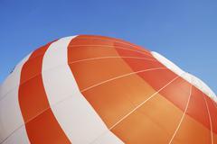 Envelope of a hot air balloon Stock Photos