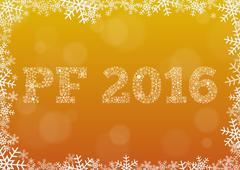 Shiny PF (Pour Feliciter, Happy new year) 2016 - stock illustration