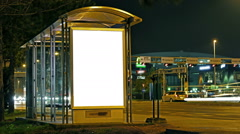 City Light and Billboard Poster Mock Up Stock Footage