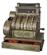 Old vintage cash register Stock Photos