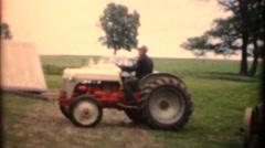 Vintage ,1952 Agriculture farm life Stock Footage
