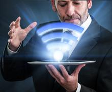Li-Fi High Speed Wireless connection Stock Photos