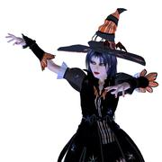 3d halloween witch Stock Illustration