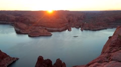 Lake Powell, Alstrom point, USA. Stock Footage