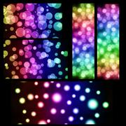 Christmas bokeh abstract background set, beautiful banner wallpaper design il Stock Illustration