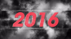 Stock Video Footage of graphical fireworks explosion to 2016 COLORLESS 4K