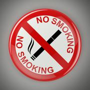 No smoking sign with clipping path Stock Illustration