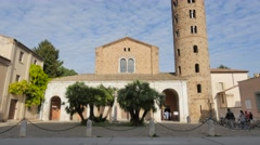 New  basilica of saint apollinaris  church ravenna Stock Footage