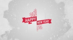 Ice title: Happy new year  Stock Footage