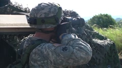 Soldiers Train with MILES Gear Stock Footage