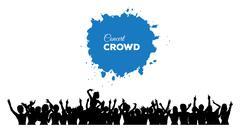 People concert crowd - stock illustration