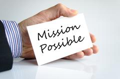 Stock Photo of Mission possible text concept
