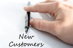 New customers text concept - stock photo