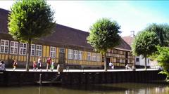 Aarhus - the old town Stock Footage
