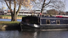 English Canal Boat Close Up Windsor Stock Footage