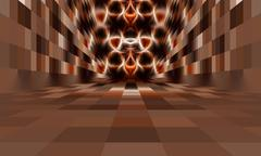 Abstract room with no ceiling - stock photo