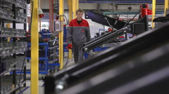 Worker in the factory Stock Footage