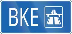 Stock Illustration of Route Sign of Bukit Timah Expressway in Singapore