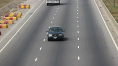 Traffic Truck Hazy Harmattan Abuja - stock footage