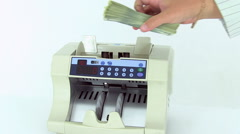Stock Video Footage of Cash money counting machine.