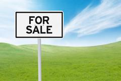 For sale board to promote business property - stock photo