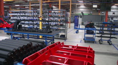 Inside of the factory Stock Footage