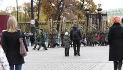 Kremlin Changing of the Guard Stock Footage