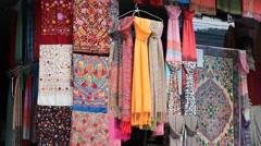 Pashmina (colored, medium shot) Stock Footage