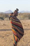 Unidentified woman from Himba tribe, Namibia - stock photo