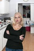Disgusted Woman - stock photo