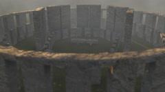 Stonehenge 3d Animation Mist - stock footage