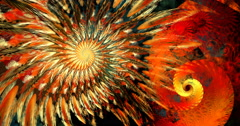 4K format abstract spiral motion background seamless looping fractal Stock Footage