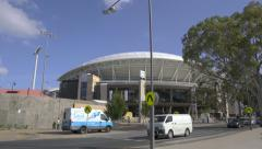 Moving shot of Adelaide Oval in Adelaide, Australia Stock Footage