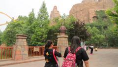 Popular amusement park Happy Valley in Beijing Stock Footage