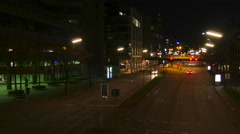 Timelapse, Hamburg, Willy-Brandt-Straße, Night Stock Footage