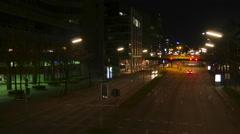Timelapse, Hamburg, Willy-Brandt-Straße, Night - stock footage