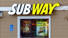 4K loop, Subway sandwich restaurant Stock Footage