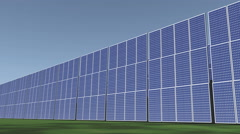 4k Solar panels,green free clear energy. Stock Footage