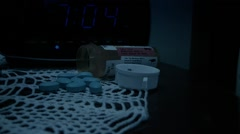 Pills On Night Stand Stock Footage