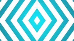 geometric symmetrical background expanding diamonds loop  blue - stock footage