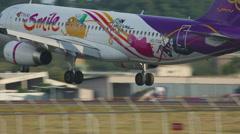 Airbus 320 landing Stock Footage