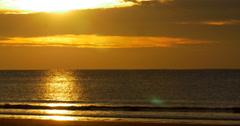 Sunrise view at Sullivan's Island. Stock Footage